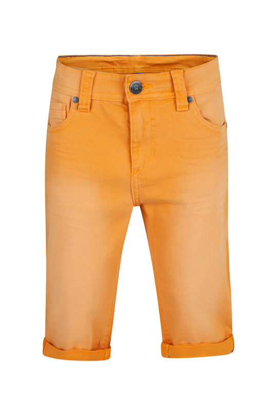 Jongens denim short Oranje