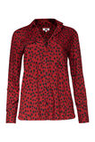 Dames blouse, Rood
