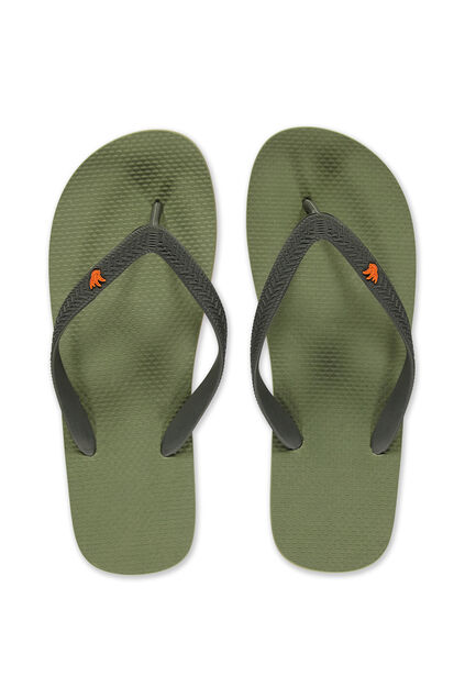 Heren teenslippers Legergroen