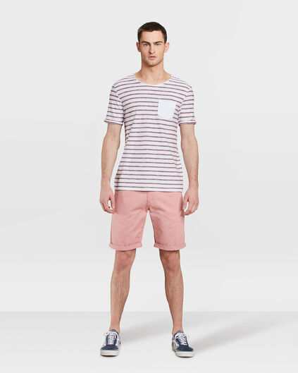 HEREN REGULAR FIT CHINO SHORT Roze