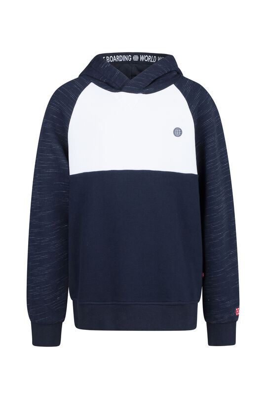 Jongens colourblock sweater Marineblauw