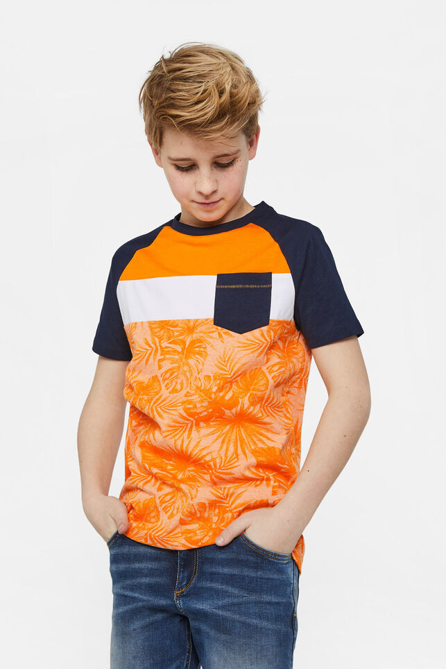 Jongens T-shirt met colourblock Multikleur