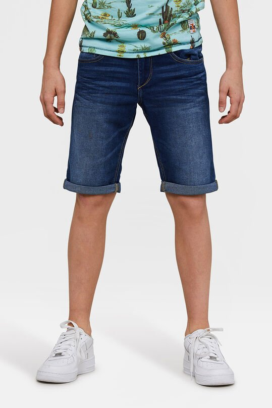 Jongens Loose Fit denim short Blauw
