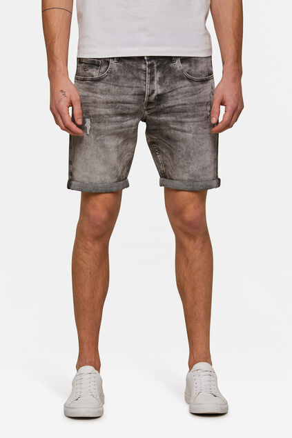 Heren regular fit jog denimshort Grijs
