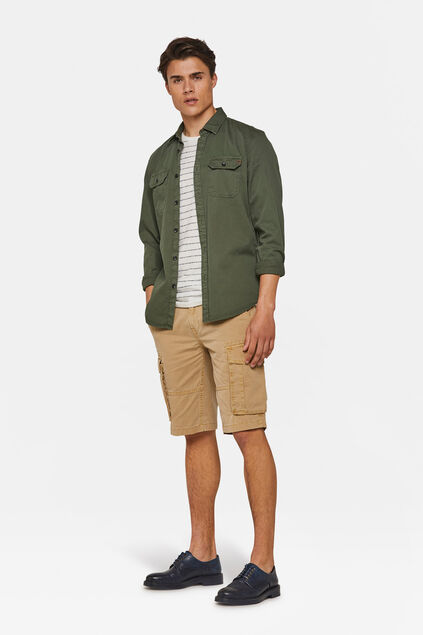 Heren relaxed fit cargo short Beige