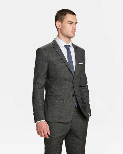 HEREN SLIM FIT BLAZER ATLANTA Donkergrijs