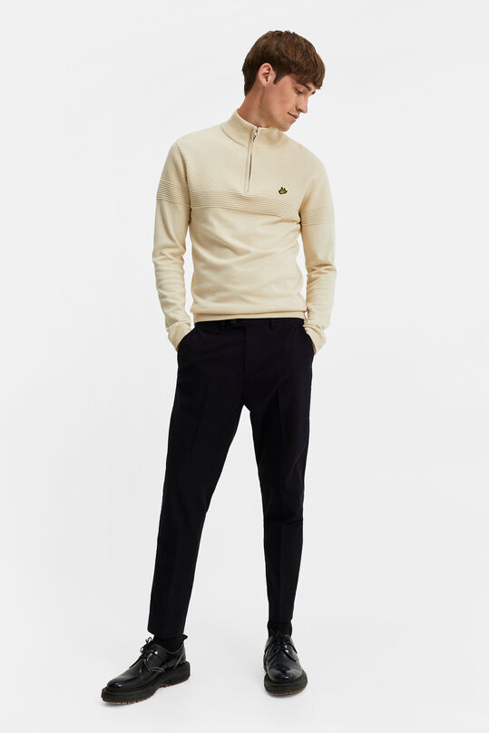 Heren uni slim fit chino Zwart