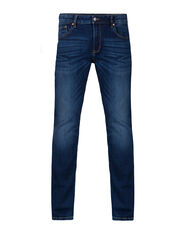 Heren regular straight jog denim jeans_Heren regular straight jog denim jeans, Donkerblauw