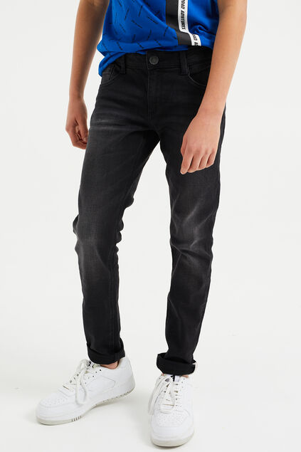 Jongens regular fit jeans Zwart