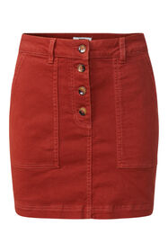 Dames denim rok_Dames denim rok, Roestbruin