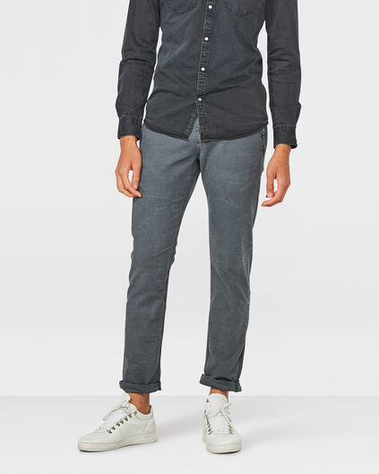 HEREN SLIM FIT CASUAL CHINO Donkergrijs