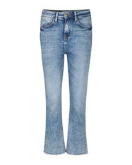 DAMES HIGH RISE COMFORT STRETCH KICK FLARE CROPPED JEANS_DAMES HIGH RISE COMFORT STRETCH KICK FLARE CROPPED JEANS, Blauw