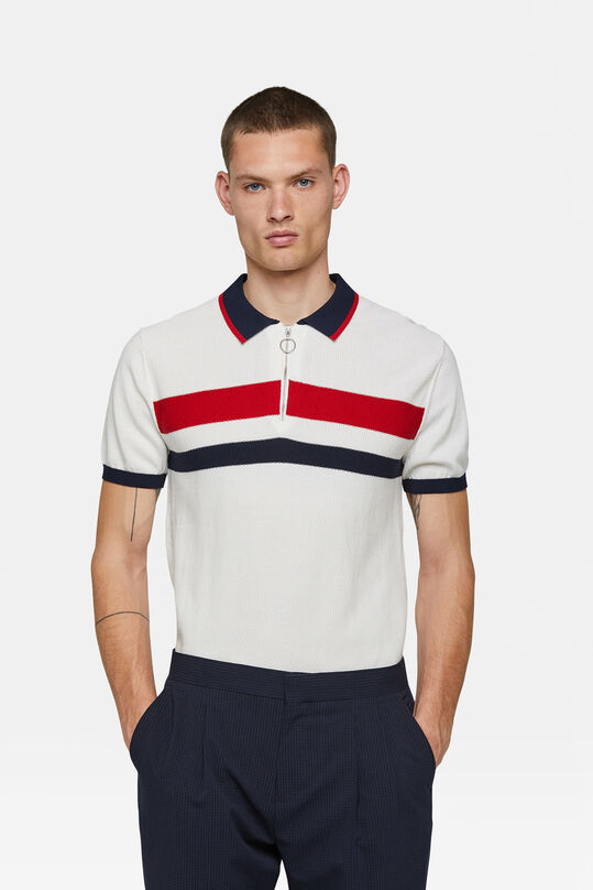 Heren knit polo Wit