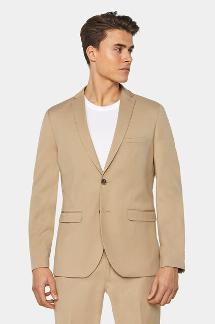 Heren slim fit blazer Dali Beige