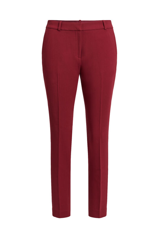 Dames slim fit pantalon Donkerrood