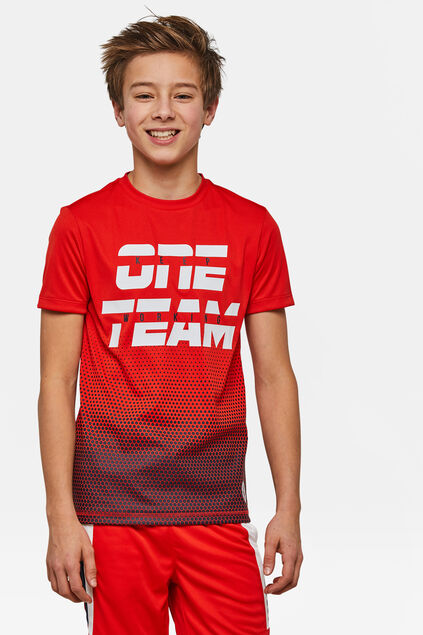 Jongens one team sport T-shirt Rood