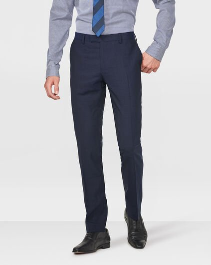 HEREN SLIM FIT PANTALON BARI Donkerblauw
