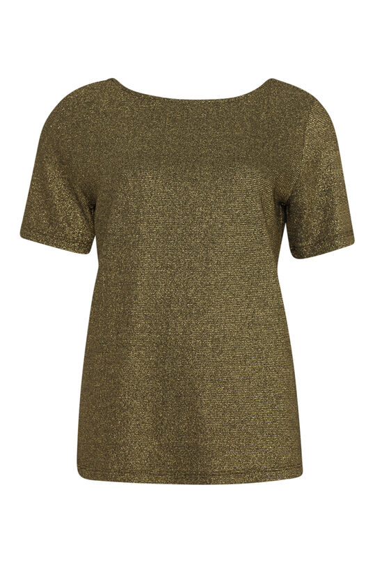 Dames lurex top Goud