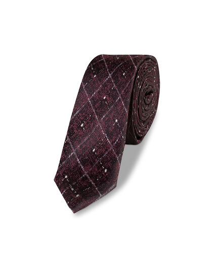 HEREN GRAPHIC CHECKED TIE Rood