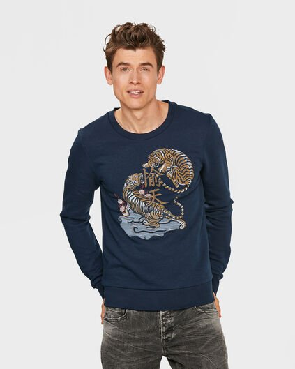 HEREN TIGER SWEATER Blauw