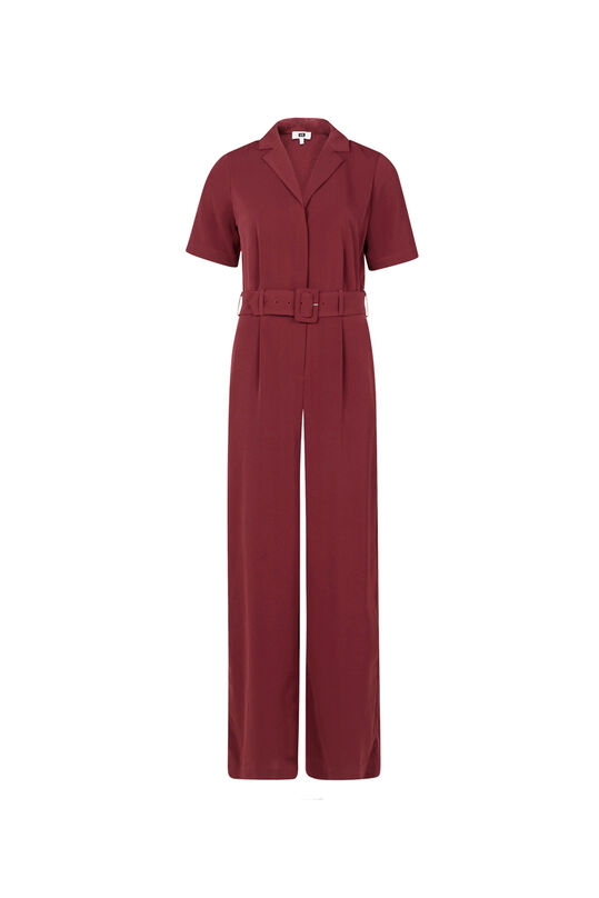 Dames jumpsuit Bordeauxrood