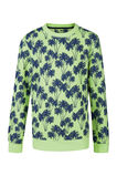 Jongens California print sweater, Geel