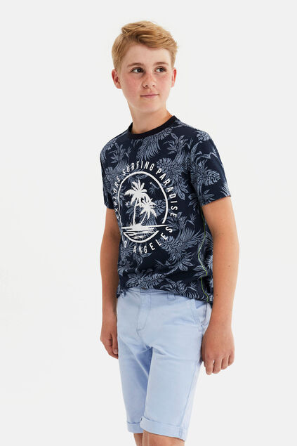 Jongens T-shirt met dessin en printopdruk All-over print