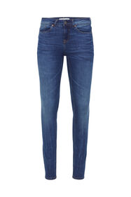 Dames mid rise super skinny jeans_Dames mid rise super skinny jeans, Donkerblauw