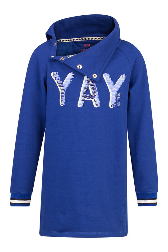 MEISJES YAY PAILLETTEN SWEATER DRESS Blauw
