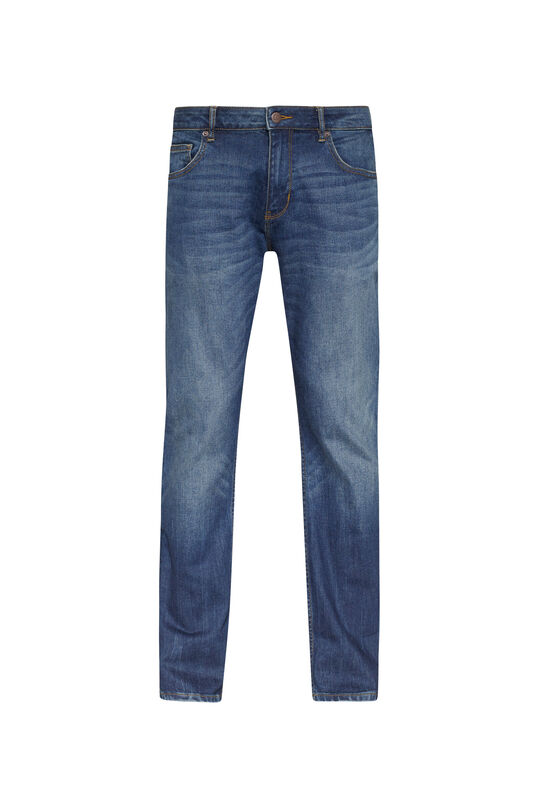 Heren relaxed stretch jeans Donkerblauw