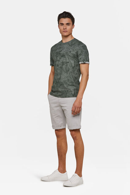 Heren regular fit chino short Lichtgrijs