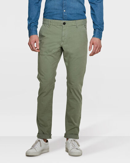 HEREN SLIM FIT CASUAL CHINO Lichtgroen