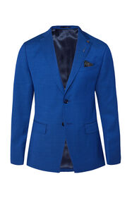 Heren slim fit blazer Johnson_Heren slim fit blazer Johnson, Blauw