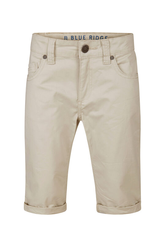 Jongens Slim Fit shorts Beige