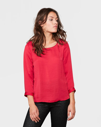 DAMES DETAIL TOP Rood