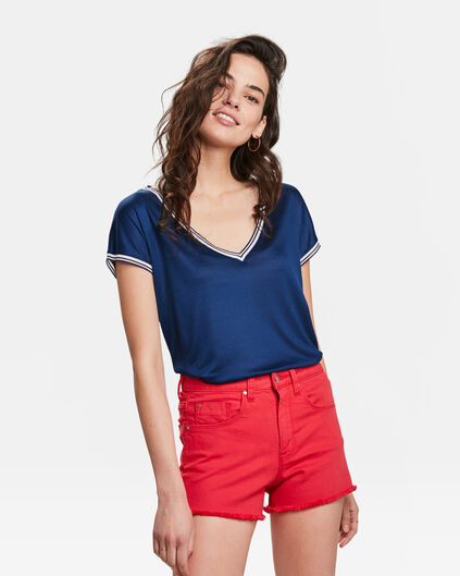 DAMES SPORTY DETAIL T-SHIRT Donkerblauw