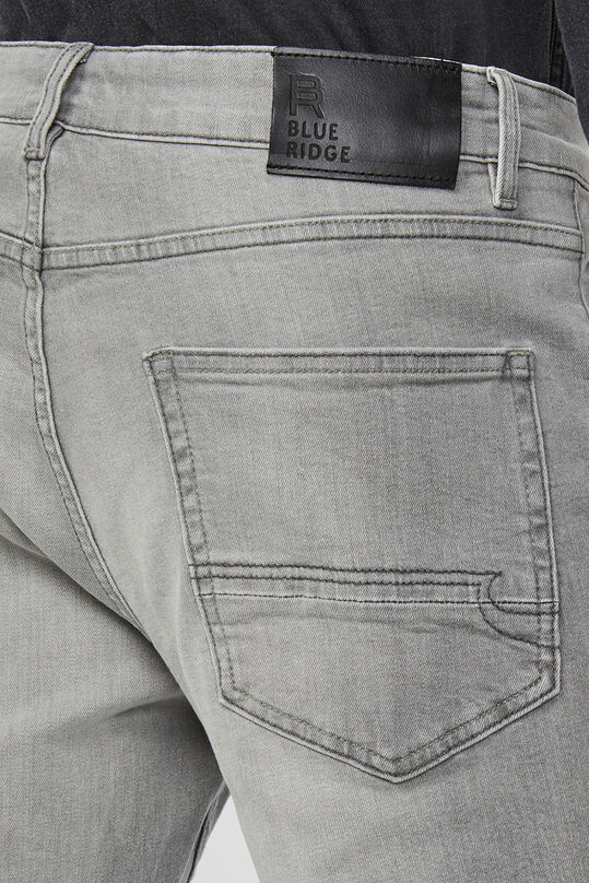Heren regular comfort stretch jeans Lichtgrijs