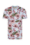Heren T-shirt met bloemendessin, All-over print