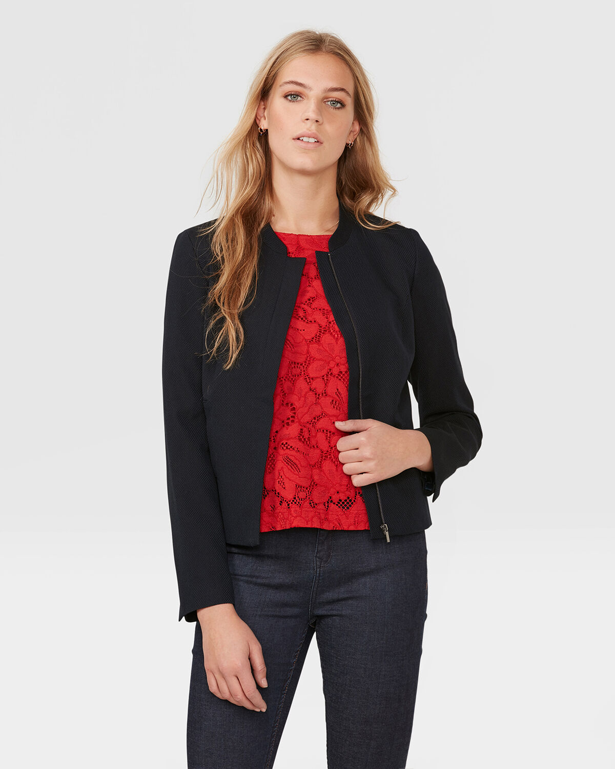 DAMES STRUCTUUR BLAZER | 79525657 WE Fashion