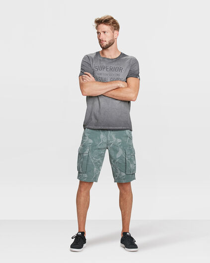 HEREN RELAXED FIT CARGO SHORT Olijfgroen