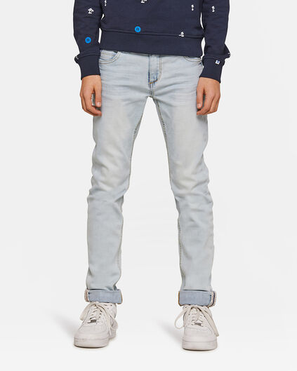Jongens skinny fit super stretch jeans Lichtblauw