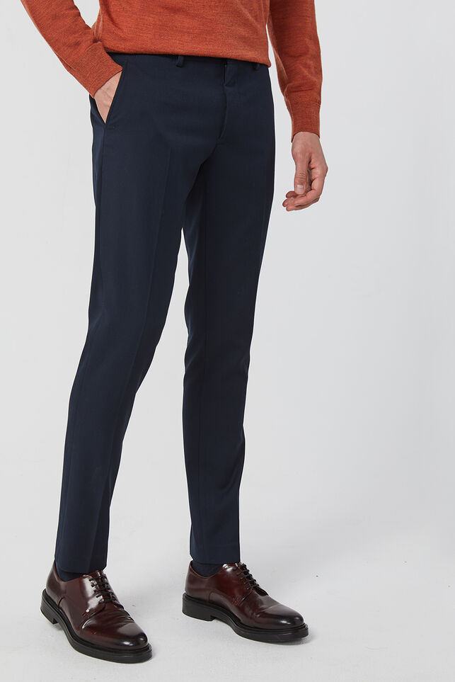 Heren slim fit pantalon, Dali Marineblauw