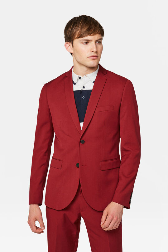 Heren slim fit blazer Dali Rood