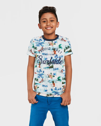 JONGENS SURFSIDE PRINT T-SHIRT Wit