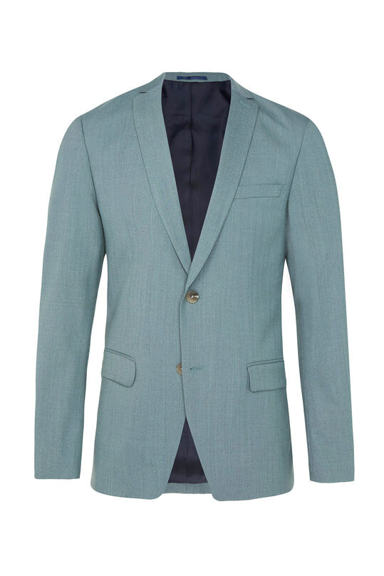 Heren regular fit blazer Dali met stretch Grijsgroen