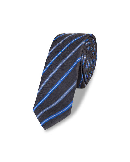 HEREN STRIPED TIE Donkergrijs