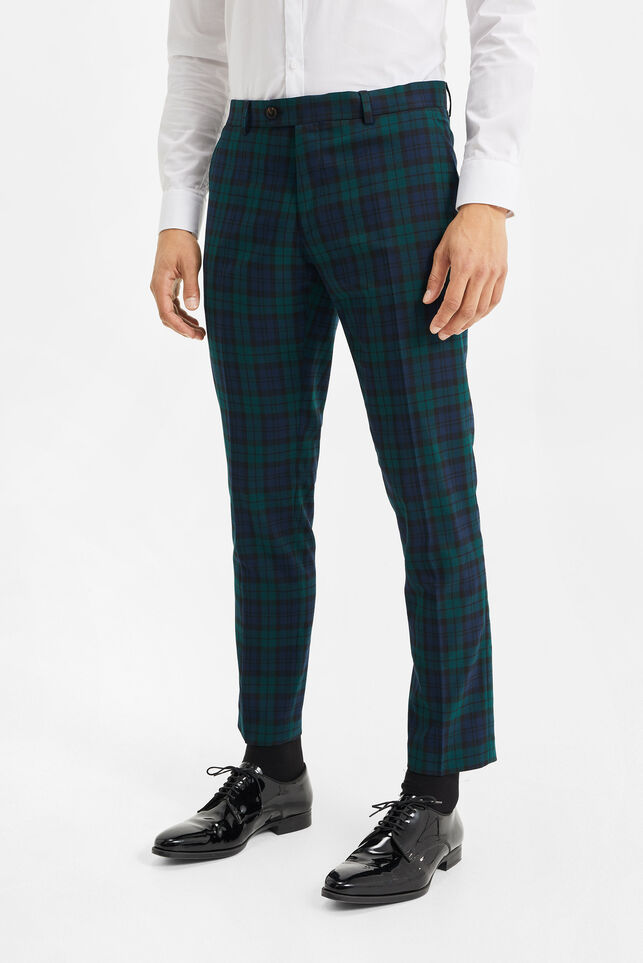 Heren slim fit pantalon, Darren Blackwatch Multikleur