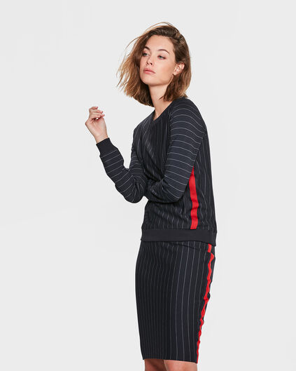 DAMES STRIPED SWEATER Donkerblauw