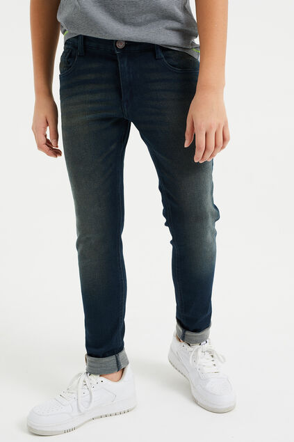 Jongens regular fit jeans met comfort stretch Donkerblauw