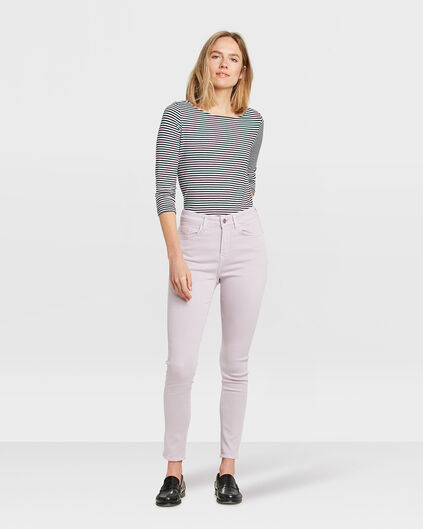 DAMES HIGH RISE SKINNY CROPPED BROEK Lila